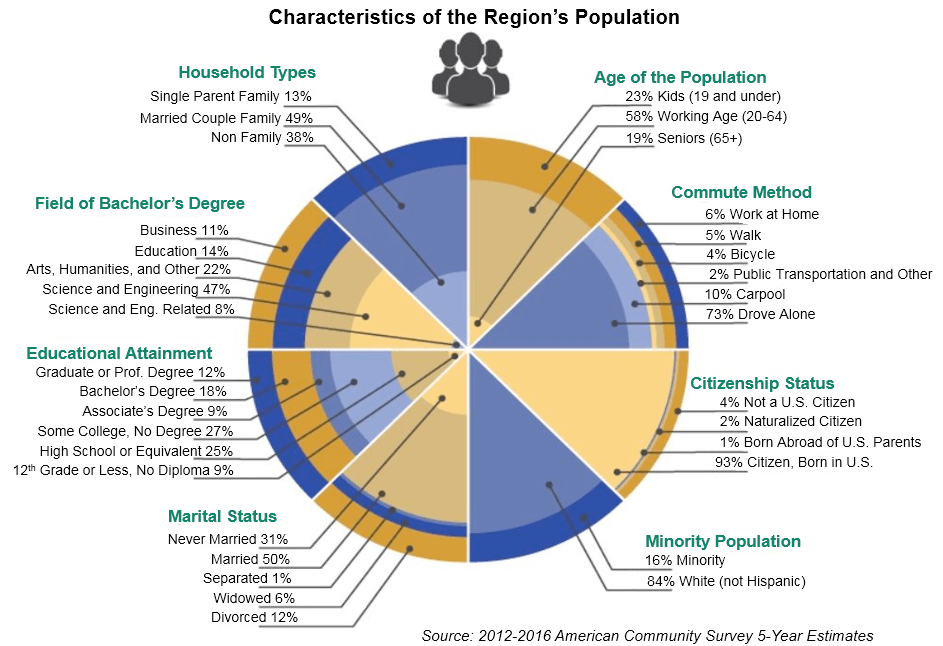 Characteristics of the Region's Population.