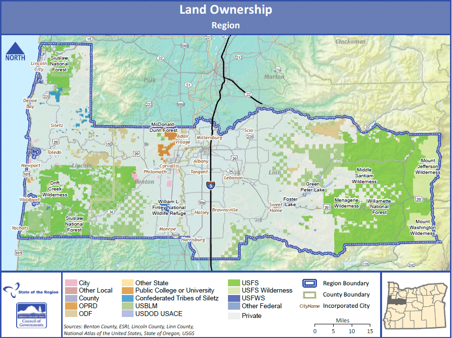 Land ownership across the region.