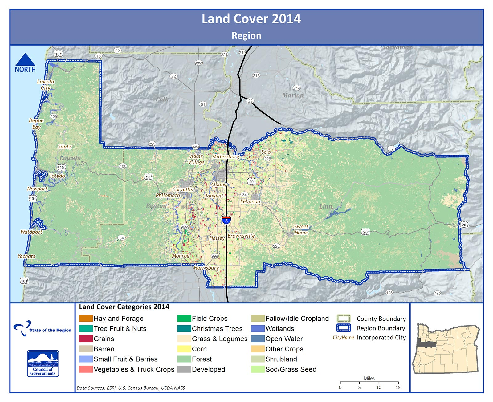 Map of Land Cover in the Region