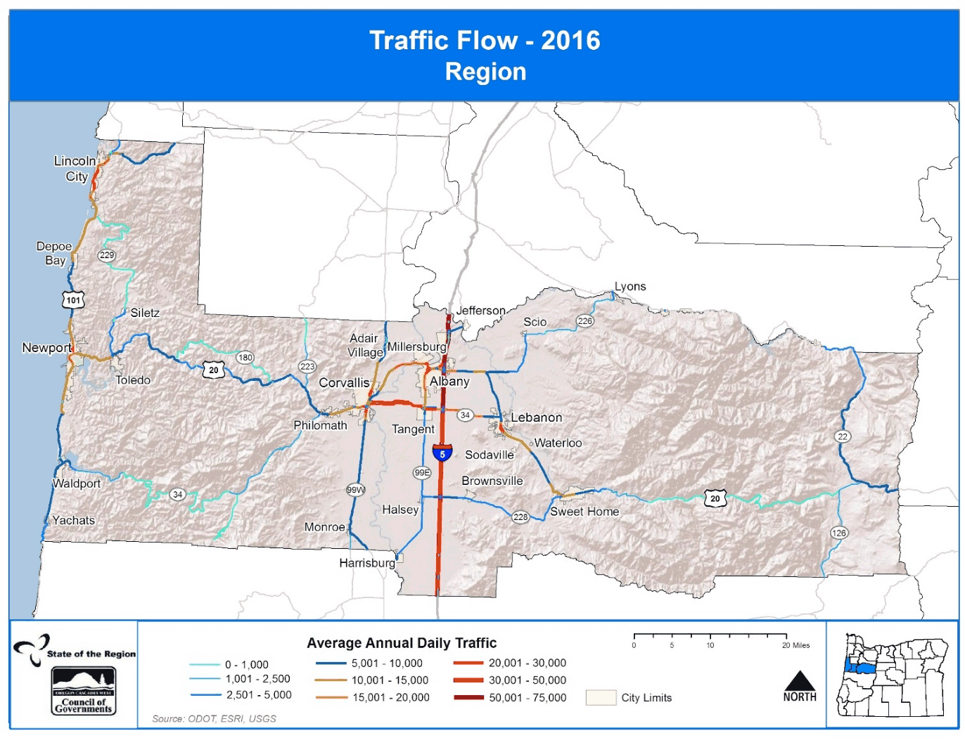 Map of Traffic Flow 2016