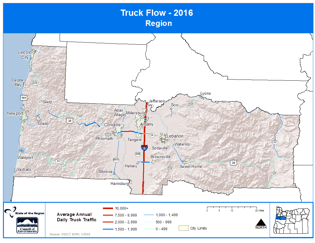 Map of Truck Flow 2016