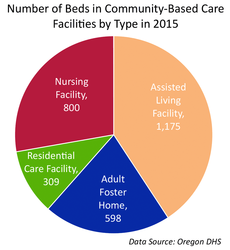 Number of Beds in Community-Based Care Facilities by Type
