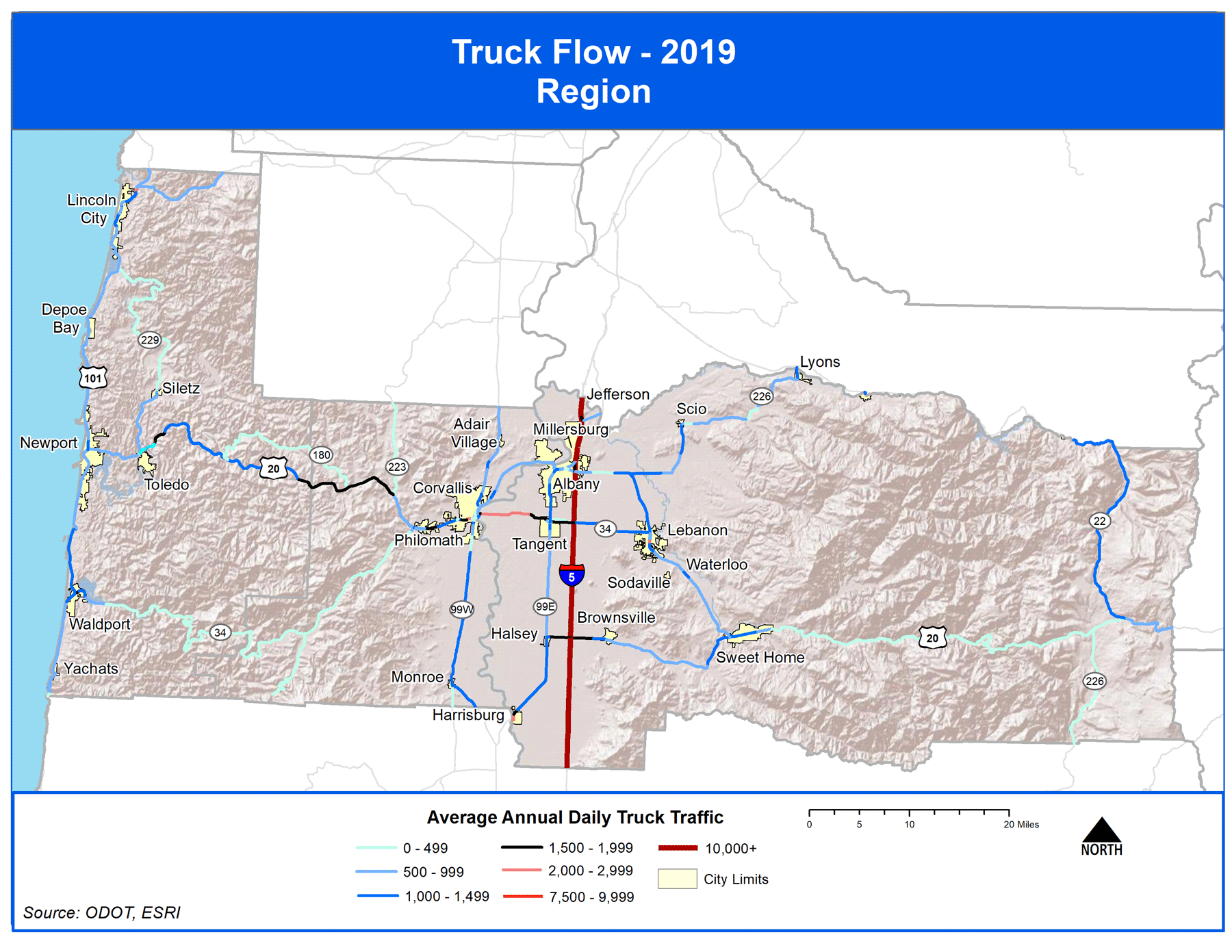 Map of Truck Flow 2019